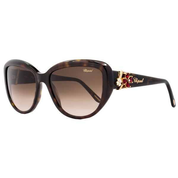 fe3ff8fef8fa Shop Chopard Women s Brown Shiny Tortoise Frame Gradient Lens Sunglasses -  Free Shipping Today - Overstock - 15312472