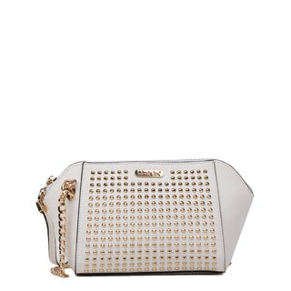 Nikky  Riko Studded White Shoulder Bag