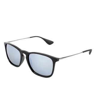 Ray-Ban RB4187 Chris Unisex Black/ Gunmetal Frames Silver Mirror Lens Sunglasses