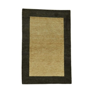 1800getarug Indo Gabbeh 100 Percent Wool Hand-Knotted Rug (4'0x6'0)