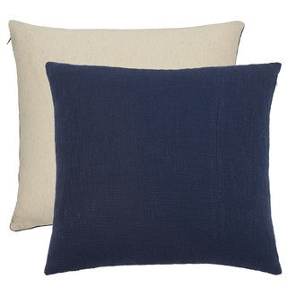 Under The Canopy Shibori Chic Reversible 100 percent Certified Organic Cotton European Square Indigo Sham