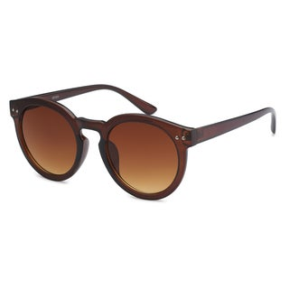 Mechaly Round MES3103 Unisex Brown Frame with Brown Lens Sunglasses