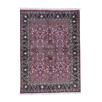 Shahbanu Rugs Indo Mashad Hand-Knotted Oriental Rug (5'7x7'10)