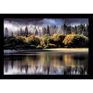 Forest Autumn Poster Print (36-inch x 24-inch) with Black Wood Frame