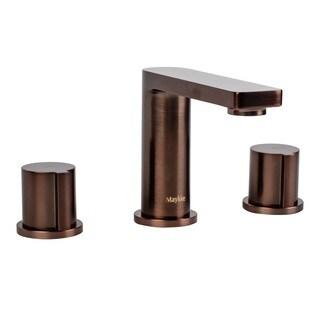Maykke Friedrich Bronze Finish Brass 3-Piece 8-inch Widespread Faucet
