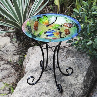 Dragonfly Bird Bath with Stand
