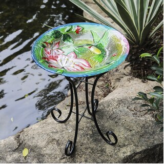 Hummingbird Bird Bath with Stand