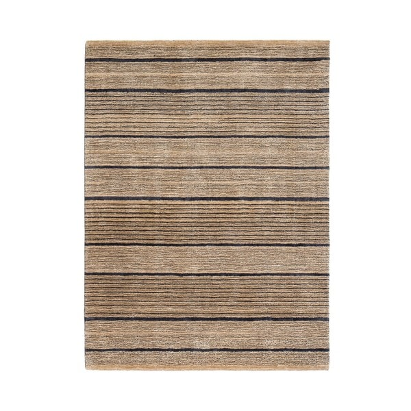 Jani Shane Tan Striped Viscose and Jute Rug
