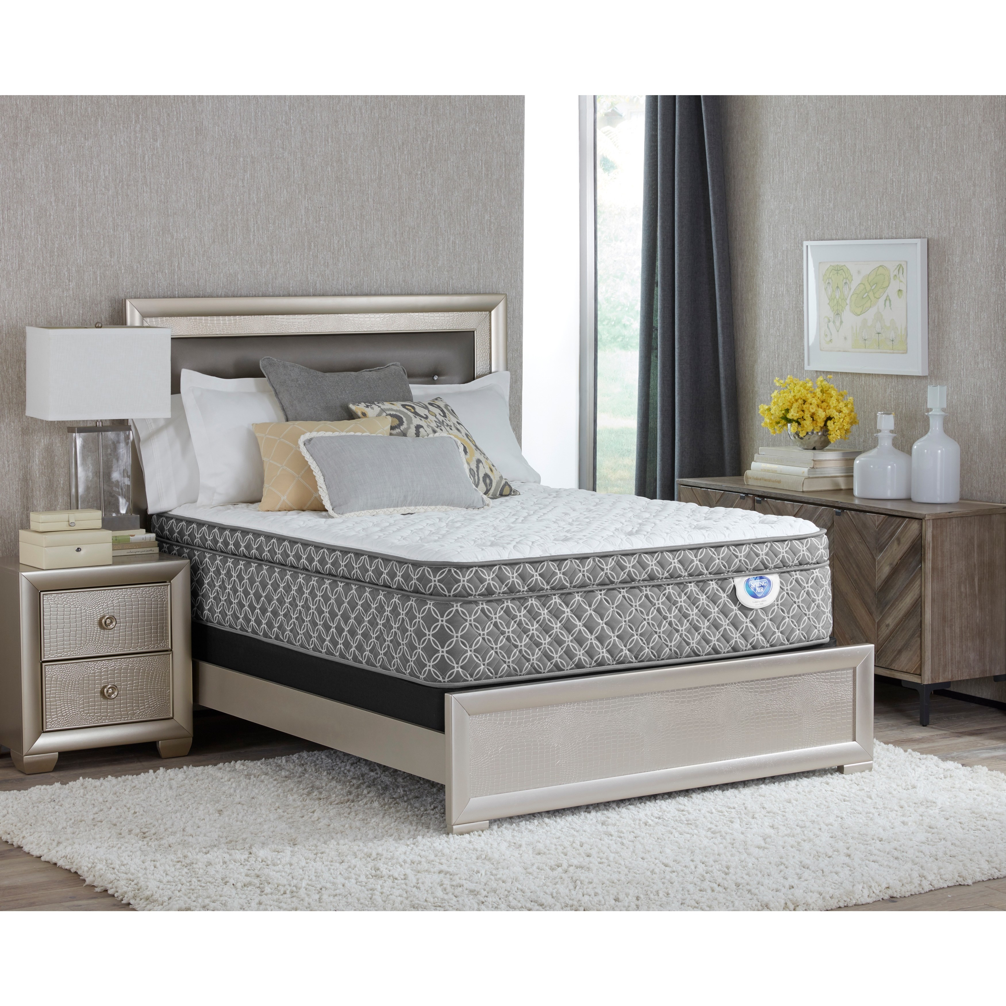 Spring Air Shelby Euro Top King-size Mattress Set (Mattre...