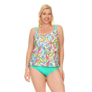 Dippin' Daisy's Mint Paisley Women's Over The Shoulder Tankini Set