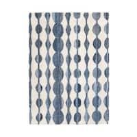 Jani Wesley Ivory/Blue Denim and Upcycled Fibers Rug