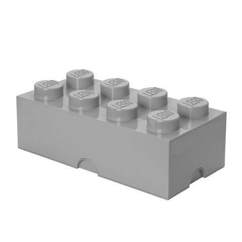 LEGO Storage Brick 8 Medium Stone Grey - Multi