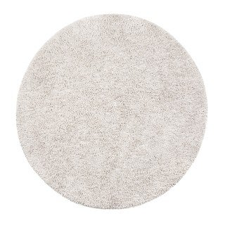 Jani Modern Ivory EcoShag Rayon from Bamboo Blend Round Rug (8' Round)
