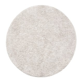 Jani Modern EcoShag Ivory Cotton and Rayon From Bamboo Round Rug (4')