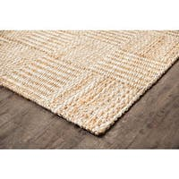 Jani Scott Tan and Ivory Jute Rug - 5' x 8'