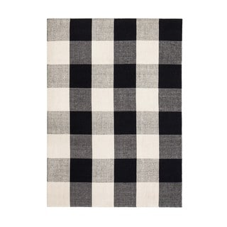 Shop Jani Perry Black And Ivory Buffalo Plaid Jute Rug 8