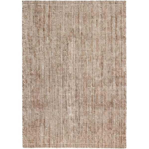 Jani Zane Natural and Ivory Jute and Upcycled Cotton Rug (8' x 10')