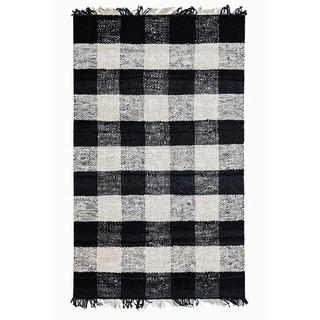 Royal Black And White Rug 5 X 8 Free Shipping Today
