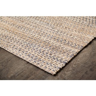 Jani Rico Tan/Blue Jute and Cotton Rug (4' x 6')