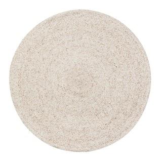 Jani Huma Ivory Upcycled Fiber and Cotton Round Rug - 8' Round