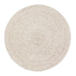 Jani Huma Ivory Upcycled Fiber and Cotton Round Rug (8' Round)