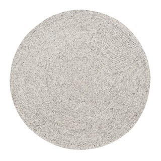 Jani Como Ivory Upcycled Fiber and Cotton Round Rug - 8' Round