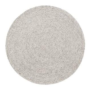 Jani Como Ivory Upcycled Fiber and Cotton Round Rug (6' Round) - 6' Round