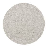 Jani Como Ivory Upcycled Fiber and Cotton Round Rug (6' Round) - 6'