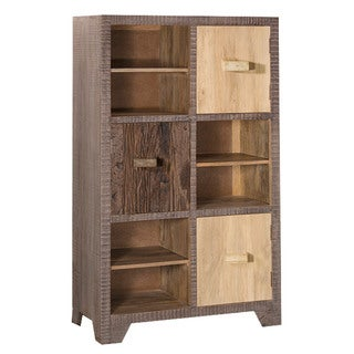 Hillsdale Bolero Sand Brushed Earth Tone Wood Tall Accent Cabinet