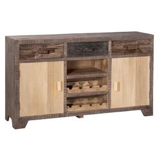 Hillsdale Bolero Earth Tone Finish Wood 2-door Console with Wine Rack