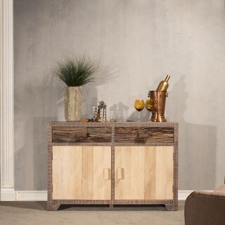 Hillsdale Sand Brushed Earth Tone FInish 2-door Accent Cabinet