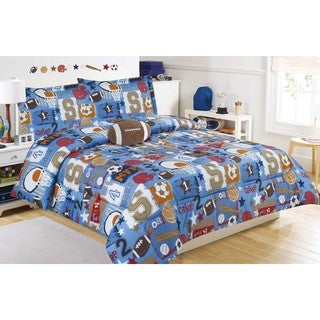Sports Champs Comforter Set with Decorative Pillow
