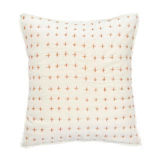Under The Canopy Amalfi Stripe Cross Stitch Decorative Pillow