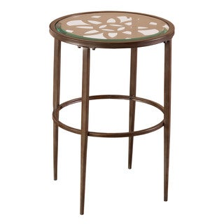 Hillsdale Furniture Marsala Grey and Brown Glass End Table