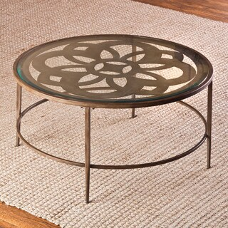 Hillsdale Furniture Marsala Bronze Glass Coffee Table