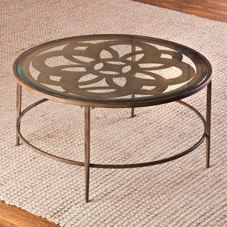 The Curated Nomad Harriet Bronze and Glass Coffee Table