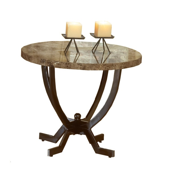 Hillsdale Furniture Monaco Brown Faux Marble End Table