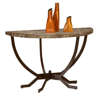 Hillsdale Furniture Monaco Soft Table in Faux Marble with Matte Espresso Base Finish