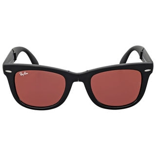 Ray-Ban Wayfarer Folding RB4105 Unisex Black Frame black/Red Mirror Lens Sunglasses