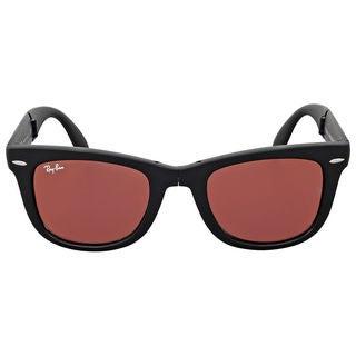 Ray-Ban Wayfarer Folding RB4105 Unisex Black Frame black/Red Mirror Lens Sunglasses