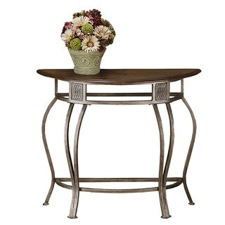 Hillsdale Furniture Montello Brown Metal and Wood Console Table