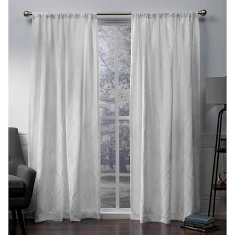 ATI Home Elena Chenille Rod Pocket Top Curtain Panel Pair