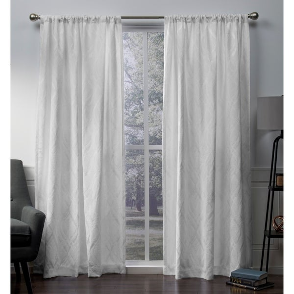 ATI Home Elena Chenille Rod Pocket Top Curtain Panel Pair. Opens flyout.