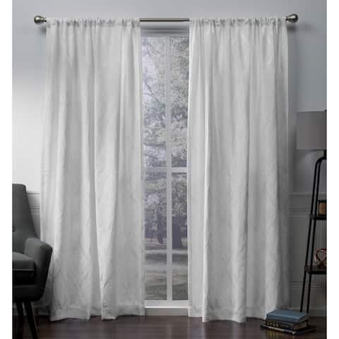 ATI Home Elena Chenille Rod Pocket Top Curtain Panel Pair