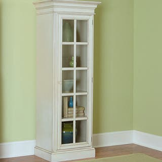 Hillsdale Furniture Pine Island White Wood/Glass Small Library Cabinet|https://ak1.ostkcdn.com/images/products/15313295/P21779370.jpg?impolicy=medium
