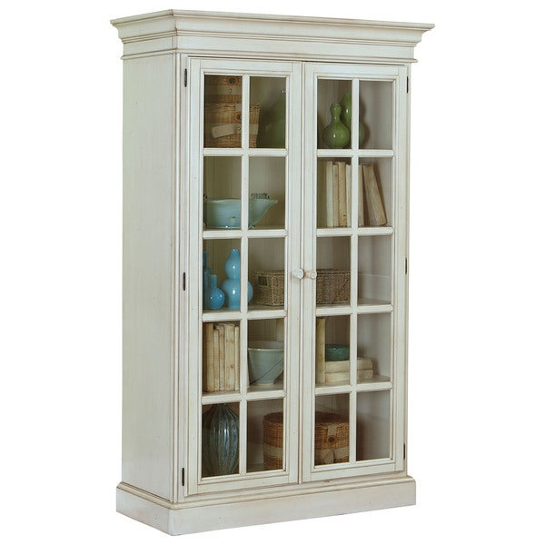 Merveilleux Hillsdale Furniture Pine Island Old White Finish Large Library Cabinet