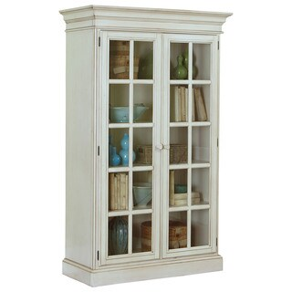 Hillsdale Furniture Pine Island Old White Finish Large Library Cabinet