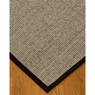 Handcrafted Posada Natural Sisal Rug - Black Binding 2'6 x 8'
