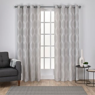 ATI Home Montrose Jacquard Grommet Top Curtain Panel Pair