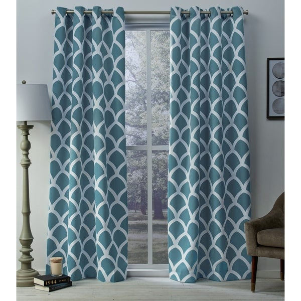 Teal Colored Curtain Panels